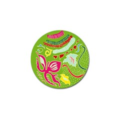 Green Organic Abstract Golf Ball Marker (10 Pack) by DanaeStudio
