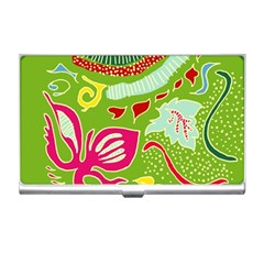Green Organic Abstract Business Card Holders by DanaeStudio