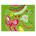 Green Organic Abstract Rectangular Jigsaw Puzzl