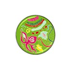 Green Organic Abstract Hat Clip Ball Marker (4 pack)