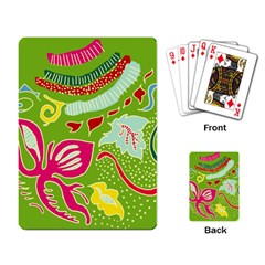 Green Organic Abstract Playing Card by DanaeStudio
