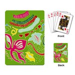 Green Organic Abstract Playing Card