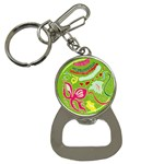 Green Organic Abstract Bottle Opener Key Chains