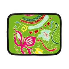 Green Organic Abstract Netbook Case (small)  by DanaeStudio