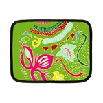 Green Organic Abstract Netbook Case (Small)