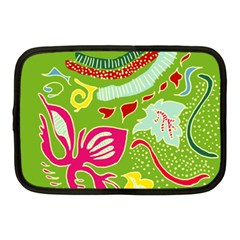 Green Organic Abstract Netbook Case (medium)  by DanaeStudio