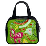 Green Organic Abstract Classic Handbags (2 Sides)