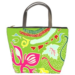Green Organic Abstract Bucket Bags by DanaeStudio