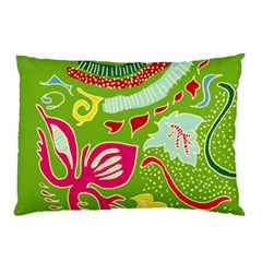 Green Organic Abstract Pillow Case by DanaeStudio