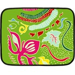 Green Organic Abstract Fleece Blanket (Mini)