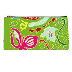 Green Organic Abstract Pencil Cases by DanaeStudio