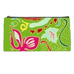 Green Organic Abstract Pencil Cases