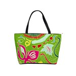 Green Organic Abstract Shoulder Handbags