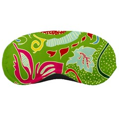Green Organic Abstract Sleeping Masks by DanaeStudio