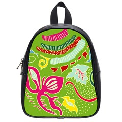 Green Organic Abstract School Bags (small)  by DanaeStudio
