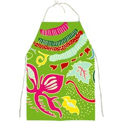 Green Organic Abstract Full Print Aprons by DanaeStudio