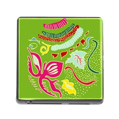 Green Organic Abstract Memory Card Reader (square) by DanaeStudio