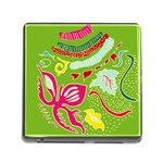 Green Organic Abstract Memory Card Reader (Square)