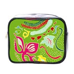 Green Organic Abstract Mini Toiletries Bags