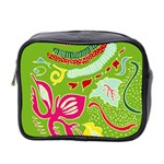 Green Organic Abstract Mini Toiletries Bag 2-Side