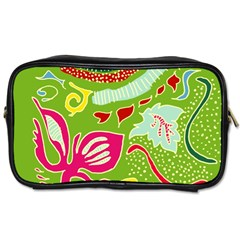 Green Organic Abstract Toiletries Bags 2 Side by DanaeStudio