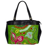 Green Organic Abstract Office Handbags
