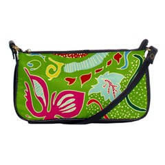 Green Organic Abstract Shoulder Clutch Bags by DanaeStudio