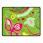 Green Organic Abstract Fleece Blanket (Small)