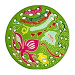 Green Organic Abstract Ornament (Round Filigree)