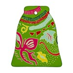 Green Organic Abstract Bell Ornament (2 Sides)