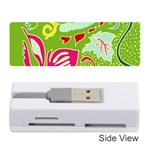 Green Organic Abstract Memory Card Reader (Stick)