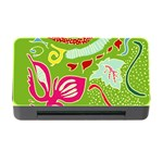 Green Organic Abstract Memory Card Reader with CF