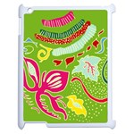 Green Organic Abstract Apple iPad 2 Case (White)