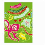 Green Organic Abstract Small Garden Flag (Two Sides)