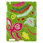 Green Organic Abstract Apple iPad 3/4 Hardshell Case