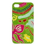 Green Organic Abstract Apple iPhone 4/4S Premium Hardshell Case
