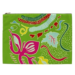Green Organic Abstract Cosmetic Bag (xxl)  by DanaeStudio