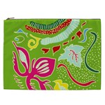 Green Organic Abstract Cosmetic Bag (XXL)