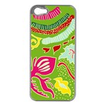 Green Organic Abstract Apple iPhone 5 Case (Silver)
