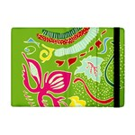 Green Organic Abstract Apple iPad Mini Flip Case