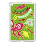 Green Organic Abstract Apple iPad Mini Case (White)