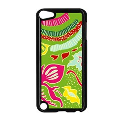 Green Organic Abstract Apple Ipod Touch 5 Case (black) by DanaeStudio