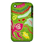 Green Organic Abstract Apple iPhone 3G/3GS Hardshell Case (PC+Silicone)