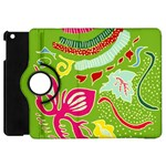 Green Organic Abstract Apple iPad Mini Flip 360 Case