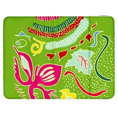 Green Organic Abstract Samsung Galaxy Tab 7  P1000 Flip Case by DanaeStudio