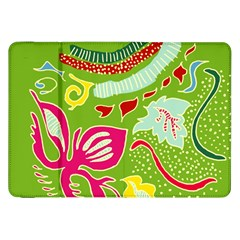 Green Organic Abstract Samsung Galaxy Tab 8 9  P7300 Flip Case by DanaeStudio
