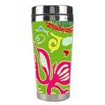 Green Organic Abstract Stainless Steel Travel Tumblers