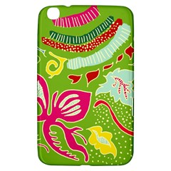 Green Organic Abstract Samsung Galaxy Tab 3 (8 ) T3100 Hardshell Case  by DanaeStudio