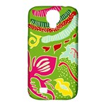 Green Organic Abstract Samsung Galaxy S4 Classic Hardshell Case (PC+Silicone)