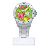 Green Organic Abstract Plastic Nurses Watch